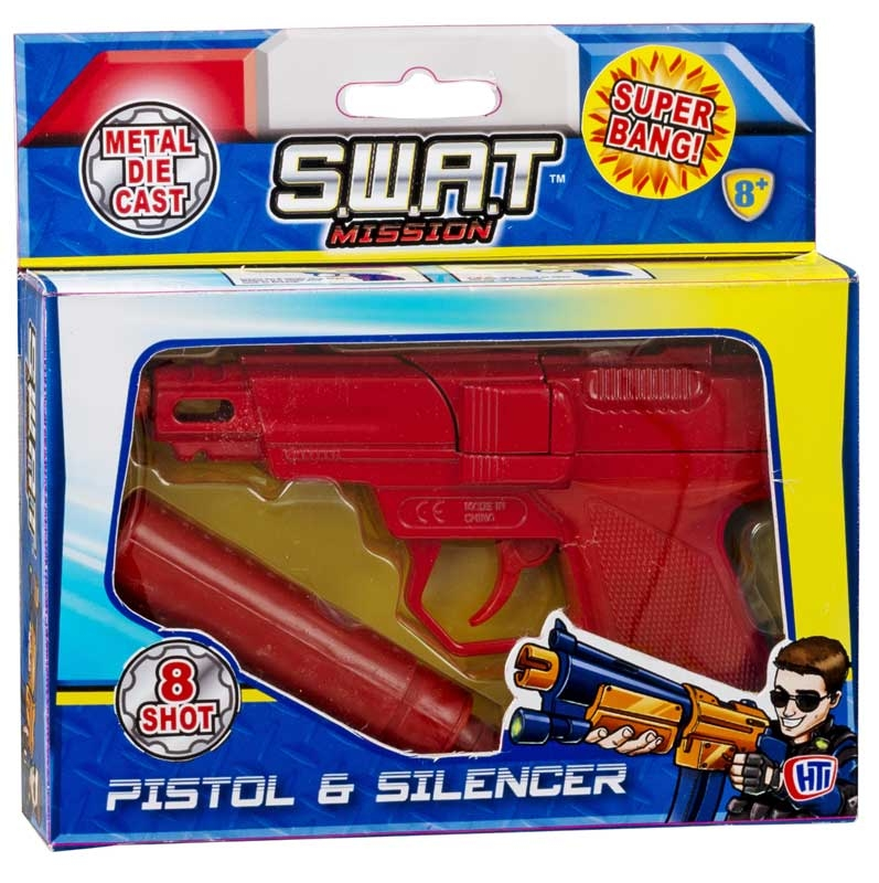 Wholesalers of Die Cast Cap Gun With Silencer toys